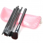 MEGAGA 115-6 # Professionelle 7-in-1 Kosmetik Make-up Pinsel Set w / PU Case - Rosa