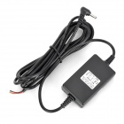 DC 12~24V Input to DC 5V Output Car Power Adapter Charger - Black (300cm-Cable / 12~24V)