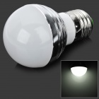 E27 3W 300lm 6500K 3-LED White Light Bulb - Silver (85~265)