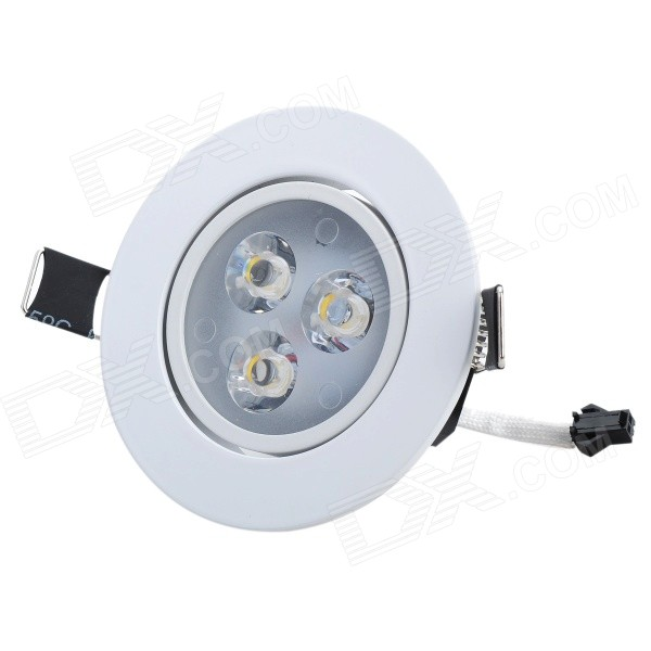 HIWIN SDY590 3W 240~270lm 3-LED Warm White Ceiling Lamp - White + Black