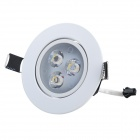 SDY590 3W 240~270lm 3-LED Warm White Ceiling Lamp - White + Black