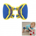 Snazzy Baby Crawl Anti-Slip Soft Fabric + Diving Cloth Knee Supports - Blue (2 PCS)