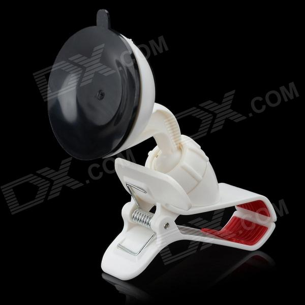 Cute Olecranon Style Car Mount Holder w/ Suction Cup for MP4 / GPS / Cell Phone / PDA - White + Red toz 360 rotating car mount suction cup holder for gps 1 4 camera black