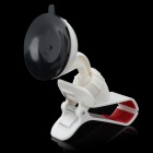 Cute Olecranon Style Car Mount Holder w/ Suction Cup for MP4 / GPS / Cell Phone / PDA - White + Red