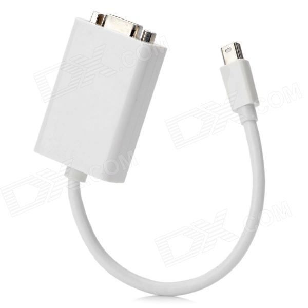 CY TB-015 Thunderbolt to VGA Projector Monitor Adapter Cable for Macbook Pro + More - White (10cm) 2 in 1 mini displayport dp thunderbolt to hdmi vga adapter connector cable line wire for apple for macbook air pro surface pro 3
