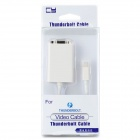 CY TB-015 Thunderbolt to VGA Adapter Cable - White (10cm)