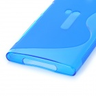 S Pattern Protective Silicone Back Case for Nokia N9 Lumia 920 - Blue