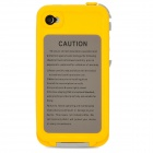 IH133 Ultra-slim Waterproof Protective Plastic Case For Iphone 4 / 4S - Yellow + Grey