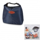 Household Portable Lunch Picnic Handbag - Deep Blue + Black