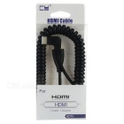 CY HD-108 Mini HDMI Angle Male to HDMI Male Adapter Flexible Cable for DSLR - Black (150cm)