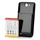 Replacement 3.7V 4800mAh Battery w/ Back Cover for Samsung Galaxy Note II N7100 - White + Black