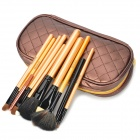 MEGAGA 272-2 # Professionelles 10-in-1 Kosmetik Make-up Pinsel Set w / PU Case - Coffee