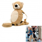 Little Bear Style Plush Baby Kid Safety Anti-Lost Backpack w/ Strap - Sand Yellow + Beige