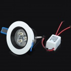 3W 250lm 6500K 3-LED White Ceiling Lamp w/ LED Driver - White (AC 100~240V)