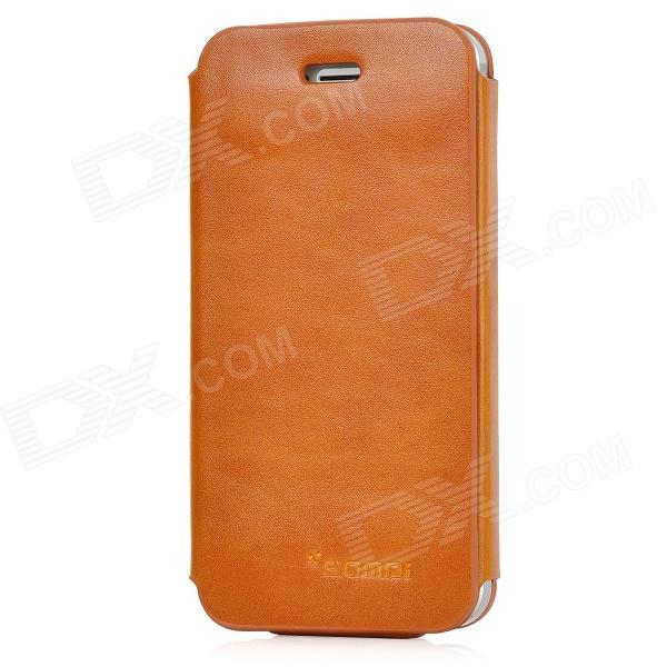 SAMDI Protective PU Leather Flip-Open Case for Iphone 5 - Brown