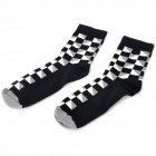 Fashionable Geometric Pattern Man&#039;s Deodorant Socks - Black + White + Grey (Pair)