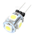 G4 0.7W 65lm 5-SMD 5050 Warm White Light Home Lighting LED Lamp - White + Yellow