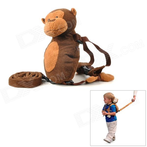 Monkey Style Samt Kids Safety Harness - Brown