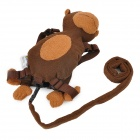 Monkey Style Velvet Cloth Kids Safety Harness - Brown