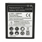 Replacement 3.7V 2300mAh Battery + Charging Dock for Samsung Galaxy S3 i9300 - Black