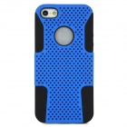 Detachable Protective Silicone Plastic Back Case for Iphone 5 - Blue + Black