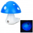 LJ LJ615 Cute Mushroom Style Light-Activated 3-LED White Night Light Lamp - Blue (2-Flat-Pin Plug)