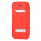 Stylish Protective Soft Silicone Case w/ Cover for Iphone 5 - Red