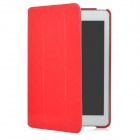 Protective Swivel 360 Degree Rotation PU Leather Case for Ipad MINI - Red