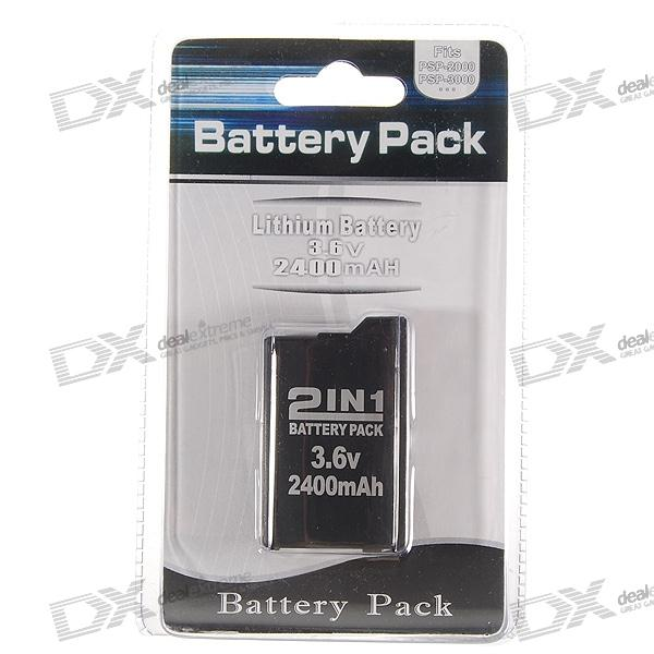 3.6V 2400mAh Rechargeable Battery Pack for PSP 3000/2000 виниловая пленка psp 2000 cg