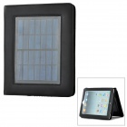 JinXing JX6604 2.4W Solar Panel 4500mAh Rechargeable Battery Charger w/ Adapter for Tablet - Black