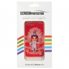 Beijing Opera Style Protective Front + Back Cover Skin Sticker for Iphone 4S / Iphone 4 - Red