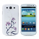 Flower Relief CrystalProtective Plastic Back Case for Samsung Galaxy S3 i9300 - White