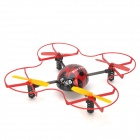 Huan Qi 882 Beetle Style 2.4G UFO 4-CH Remote Control Airplane - Black + Red (AA Battery)