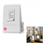 Page Turning Graffiti Calendar Style USB Powered 9-LED White Light Desktop Lamp - White