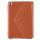 Protective Swivel 360 Degree Rotation PU Leather Case for Ipad MINI - Red Brown