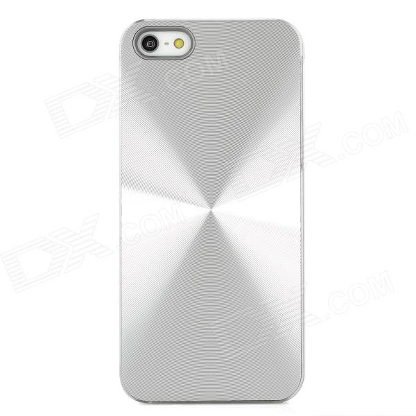Stylish CD Grain Protective PC Back Case for Iphone 5 - Silver