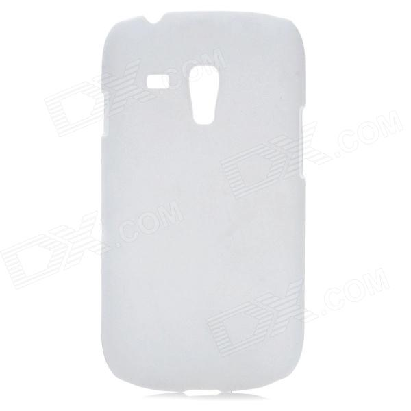 Simple Protective Plastic Back Case for Samsung i8190 Galaxy S3 Mini - White mesh protective abs back case for samsung galaxy mini s5570 white
