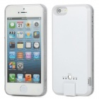 External 2600mAh Emergency Power Battery Back Case for iPhone 5 - White