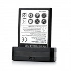 Replacement 3.7V 3500mAh Battery + Charging Dock Cradle for Samsung N7100 - Black