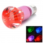 E27 3W 250lm RGB Colorful LED Crystal Light Bulb - Red + Pink (85~265V)