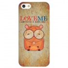 Cartoon Hamster Style Protective Plastic Back Case for Iphone 5 - Beige