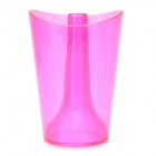 JD-118 Stylish Bathroom Gargle Toothbrush Cup for Home - Deep Pink