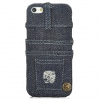 Creative Jeans Style Protective PC Back Case for Iphone 5 - Blue