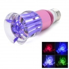 E27 3W 250lm RGB Colorful LED Crystal Light Bulb - Pink + Purple (85~265V)