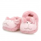 0209 Cute Cartoon Sheep Style Baby Anti-Slip Cotton + Polyester Shoes - Pink (Pair / 10cm)