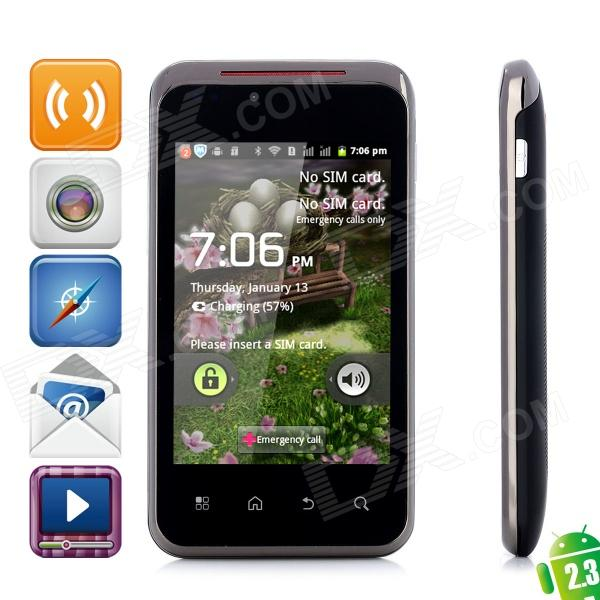 "G2 Android 2.3 GSM Smartphone w / 3,5 ""kapazitiven Bildschirm, Dual-Band, Wi-Fi-und Dual-SIM - Black"