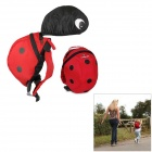 Doomagic Cute Beetle Style Canvas Safety Anti-lost Kid Keeper Backpack w/ Strap - Red