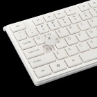 Lingdu D9300 Moda Teclado Wireless 2.4 GHz com Mouse Set - Branco (2 x AAA)