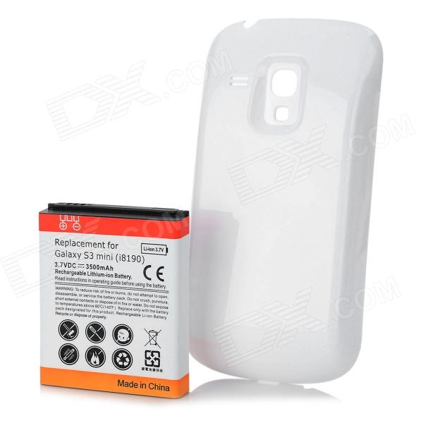 Replacement 3500mAh Battery + Protective Back Cover for Samsung Galaxy S3 Mini - White смартфон fly fs512 nimbus 10 8гб черный dual sim 4g lte 3g