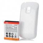 Replacement 3500mAh Battery + Protective Back Cover for Samsung Galaxy S3 Mini - White